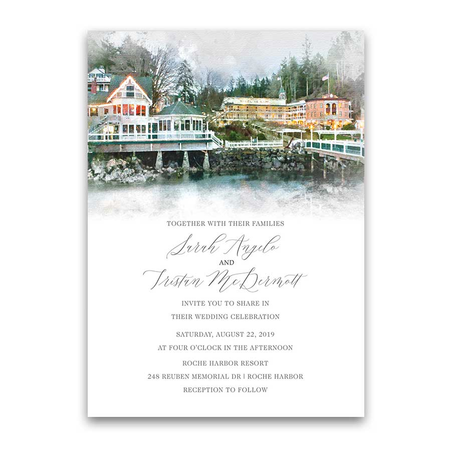 Roche Harbor Wedding Invitations San Juan Island, WA
