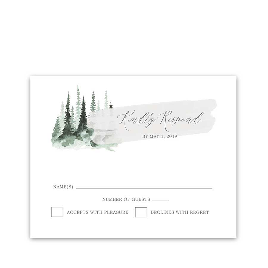 Roche Harbor Wedding RSVP Cards San Juan Island, WA