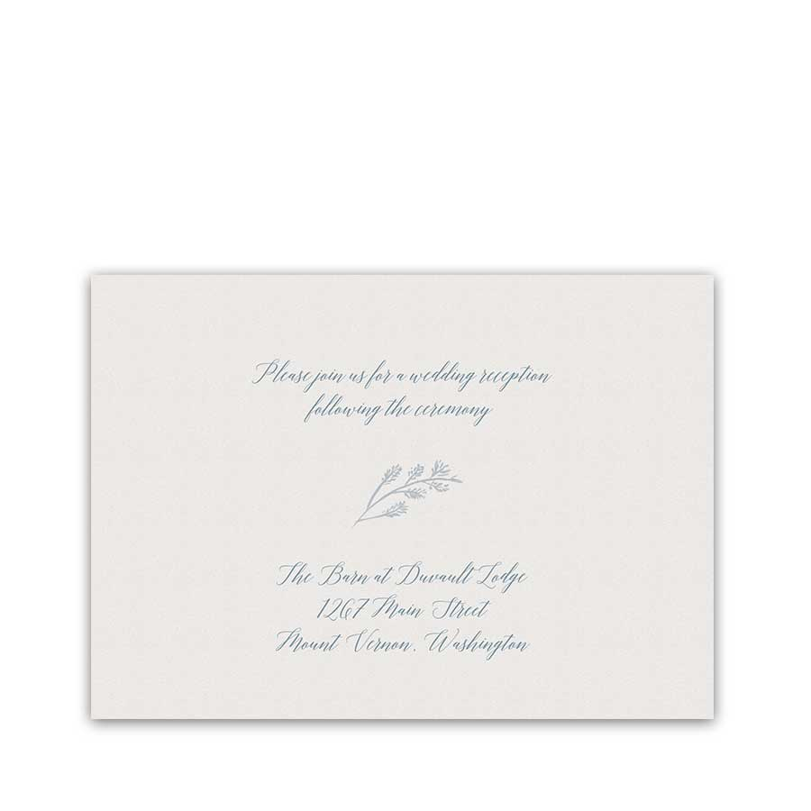Script Wedding Reception Cards Calligraphy Handwriting