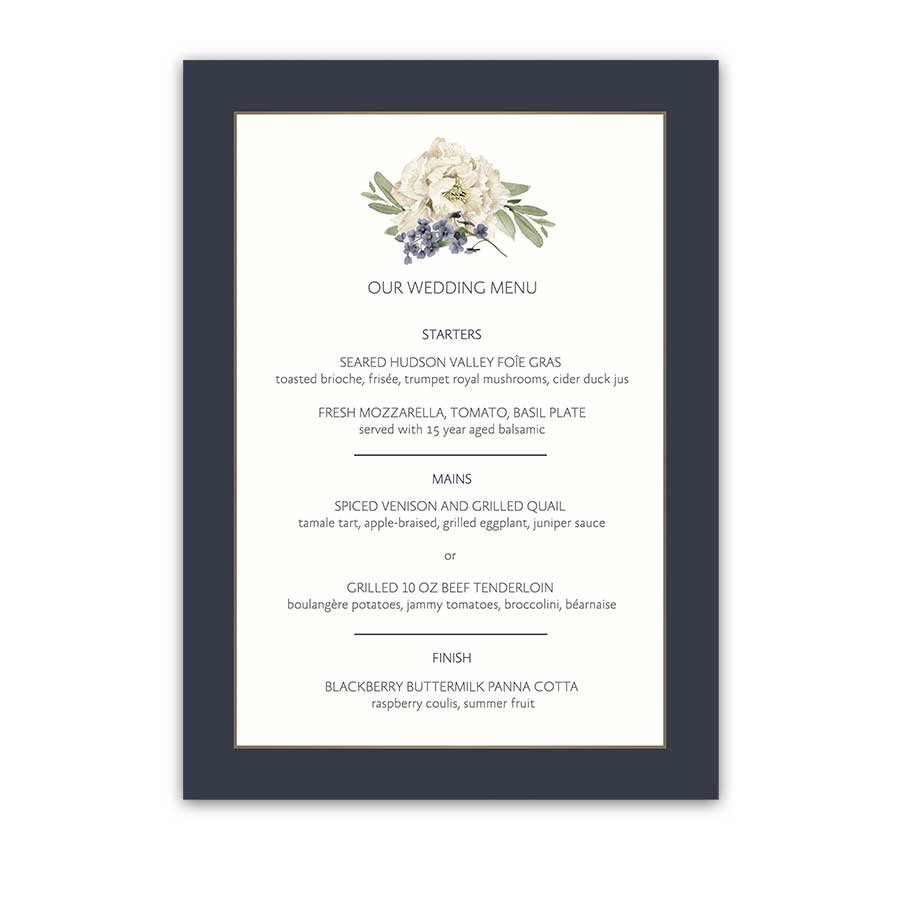 Floral Wedding Menus 2018 Wedding Trends