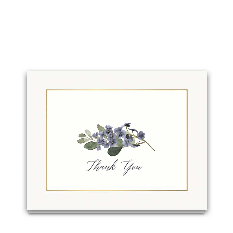 Floral Wedding Thank You Cards Pale Blue 2018 Collection