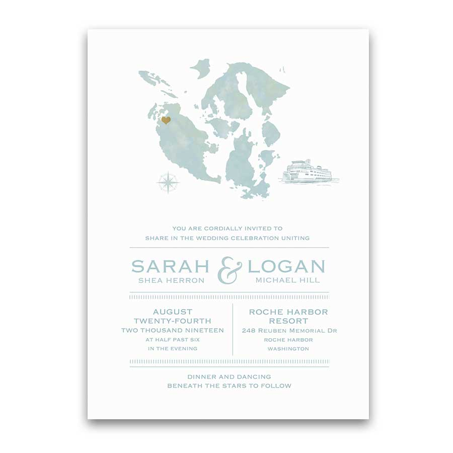 San Juan Island Wedding Invitations Roche Friday Harbor