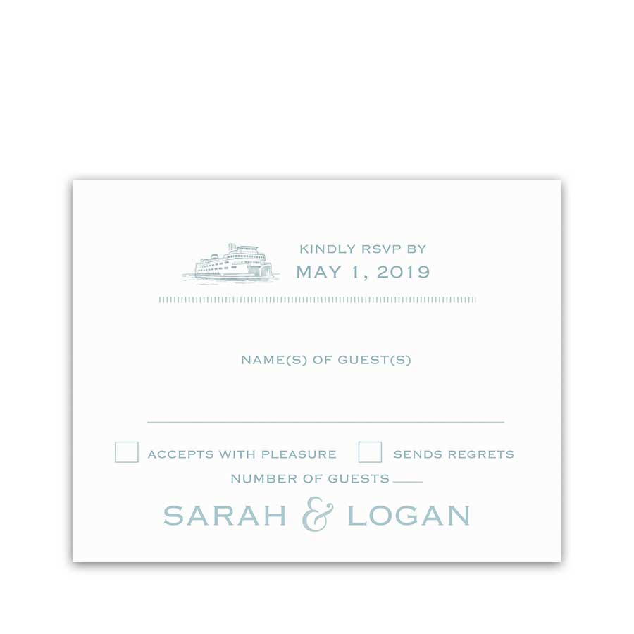 San Juan Island Weddings RSVP Card Roche Friday Harbor