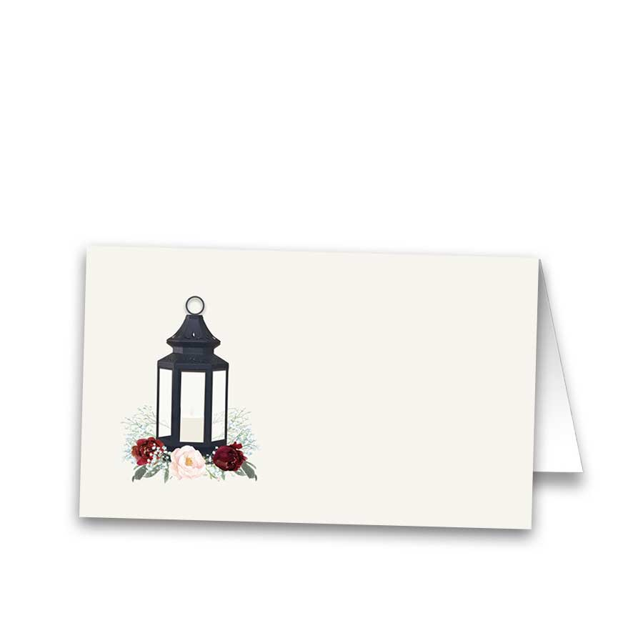 Place Cards Guest Seating Cards Lantern Floral Design