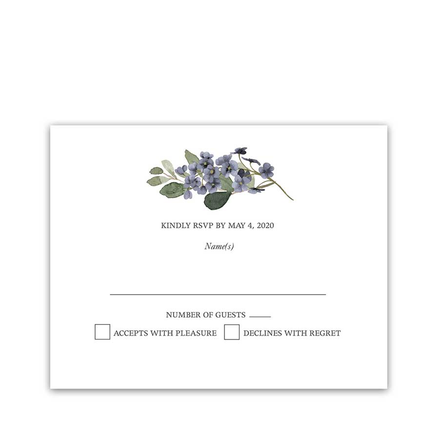 Wedding Response Cards Watercolor Greenery Garden Blooms