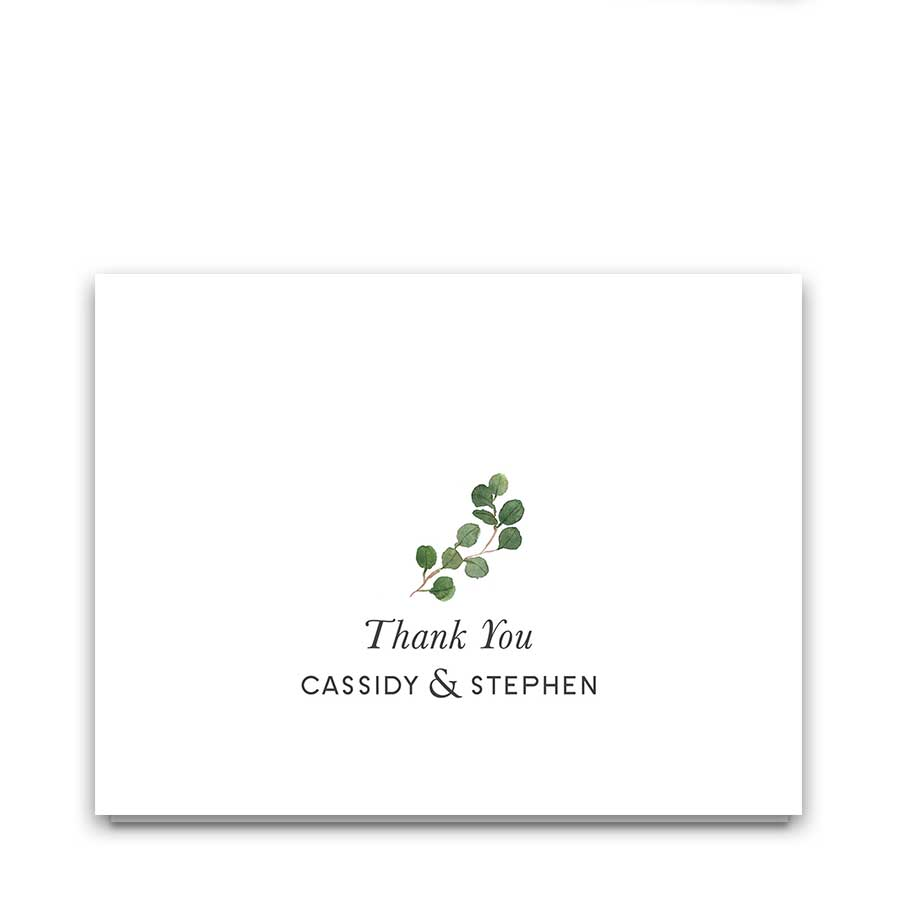 Greenery Eucalyptus Wedding Thank You Notecards