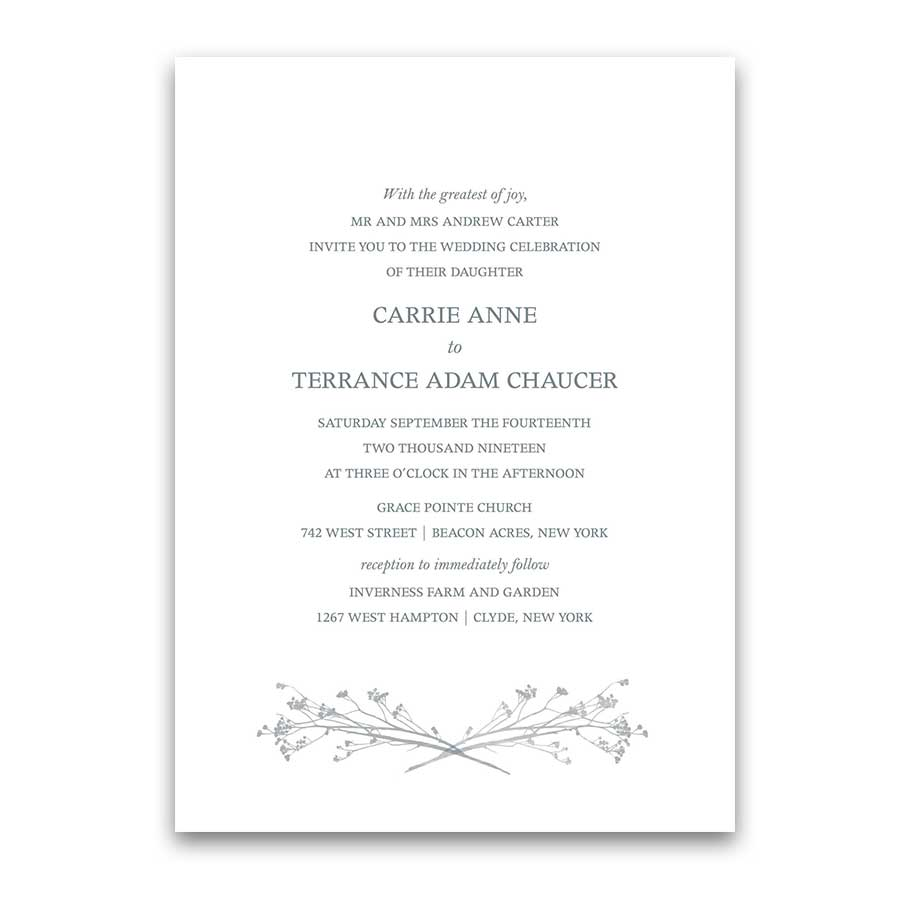Modern Wedding Invitations Greenery Branches