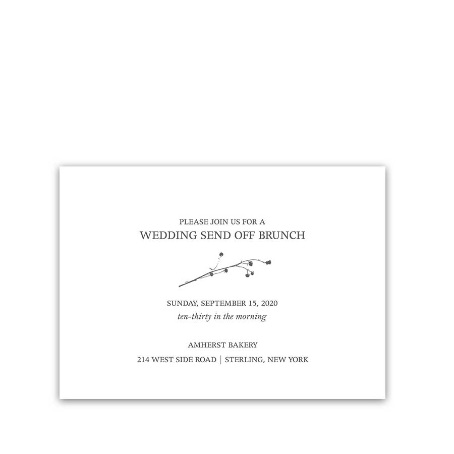 Wedding Reception Details Card Greenery Branches