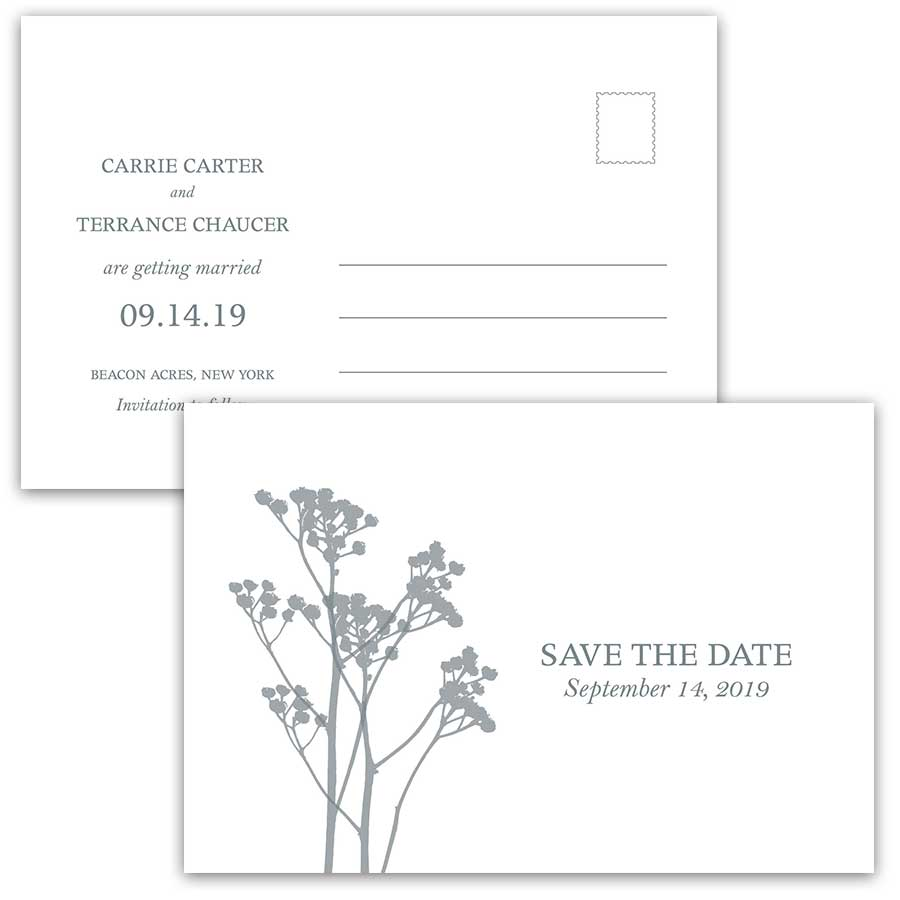 Boho Floral Wedding Save the Date Postcards