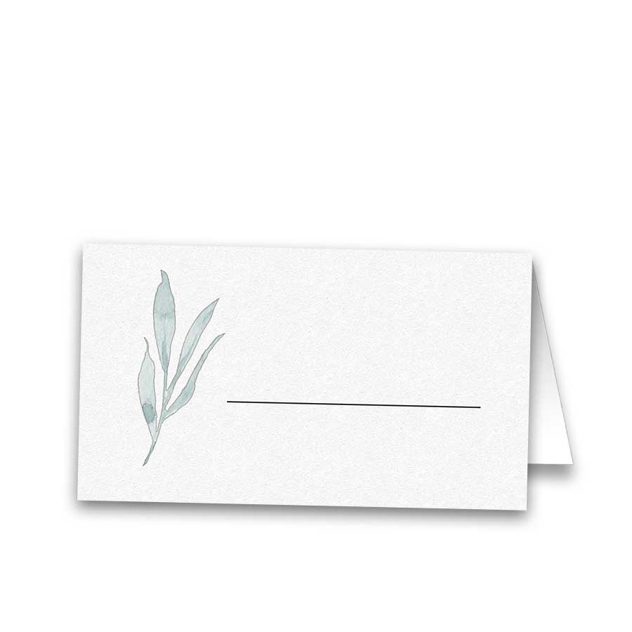 Wedding Escort Seating Cards Greenery Dusty Pale Blue