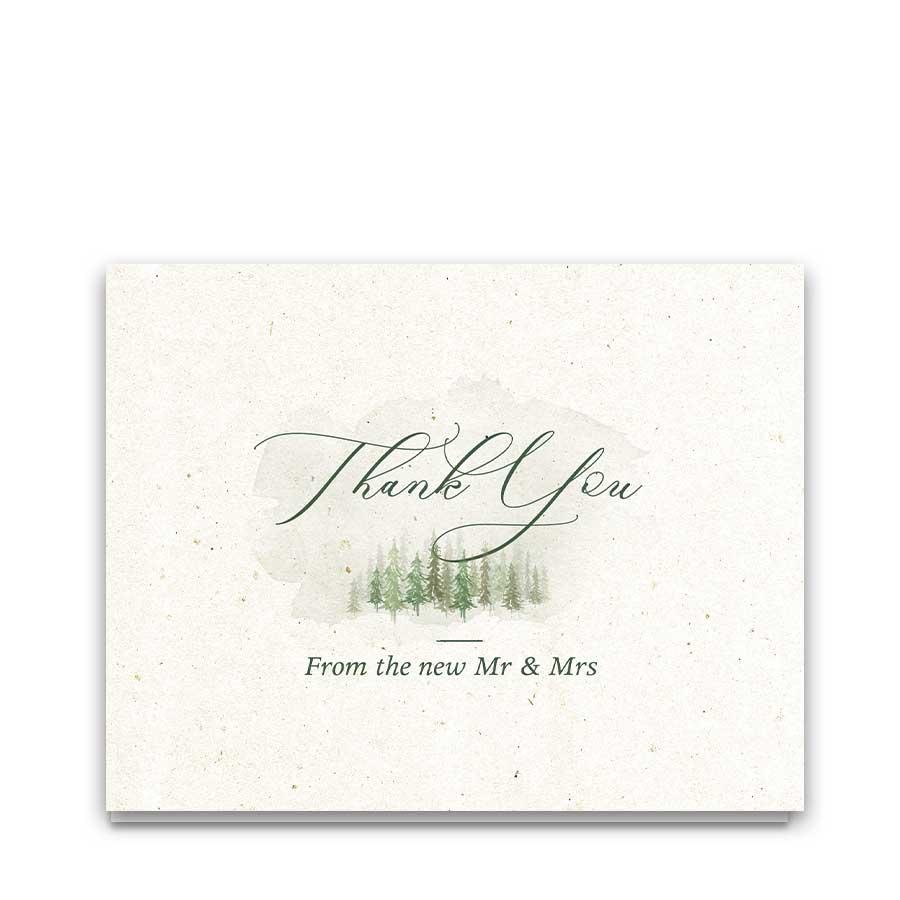 Woodland Wedding Thank You Card