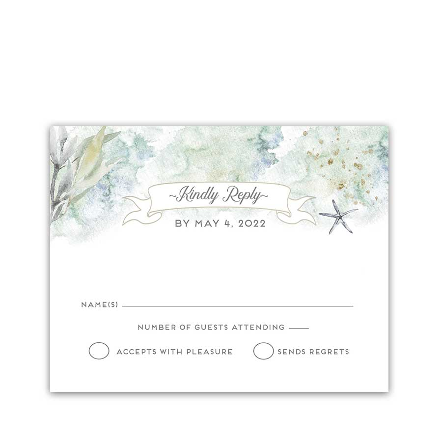 Wedding RSVP Cards Roche Harbor Friday Harbor Nautical Theme