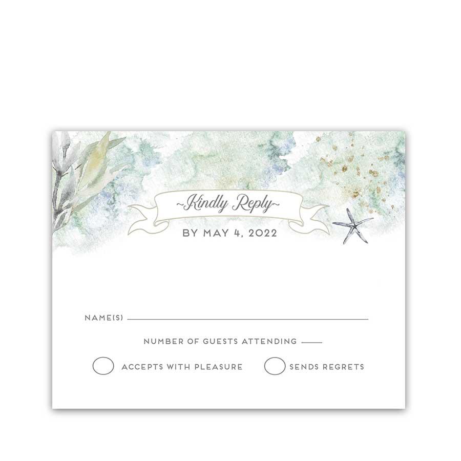 Wedding RSVP Cards Roche Harbor Friday Harbor Nautical Theme