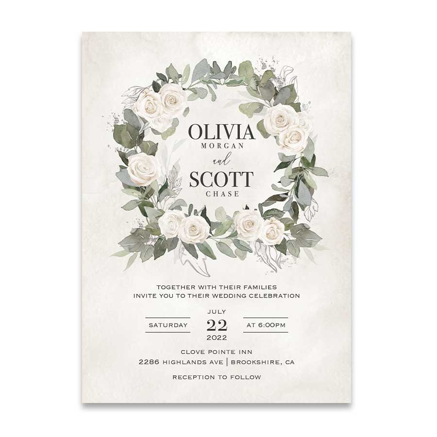 Bohemian Wedding Invitation Template