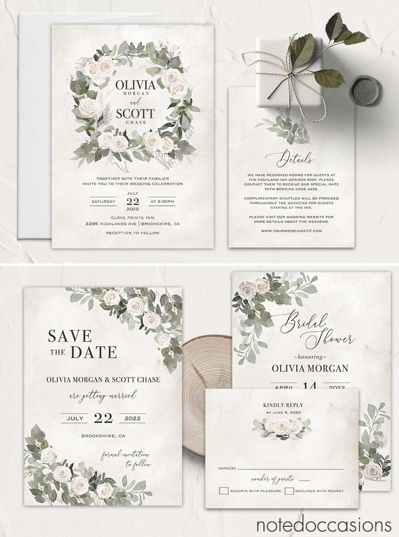 Bohemian Wedding Invitation Template Boho Wedding Invite