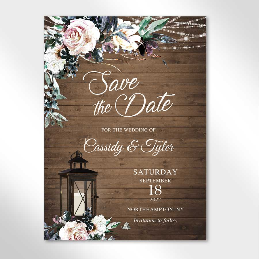 Rustic Wedding Save the Date Cards