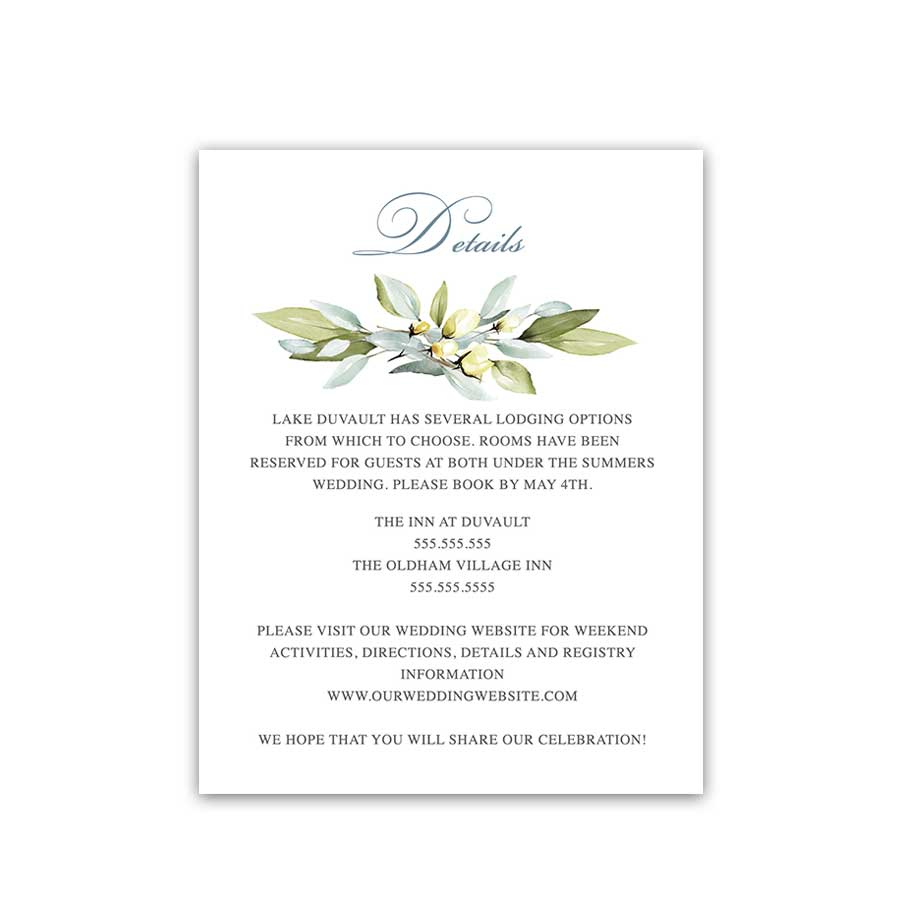 Wedding Invitation Details Card