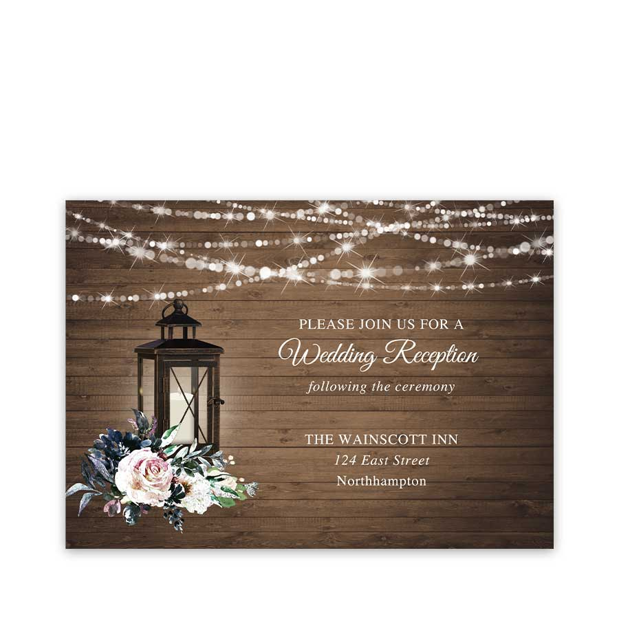 Lantern Wedding Reception Details Card