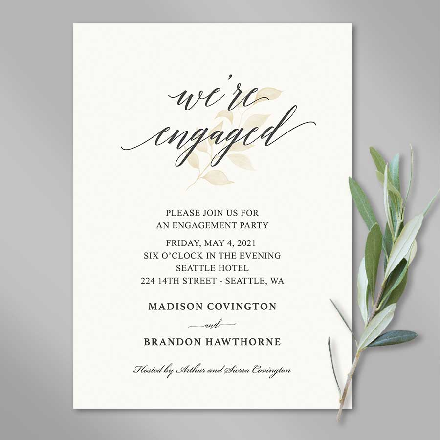 Wedding Engagement Party Invitation
