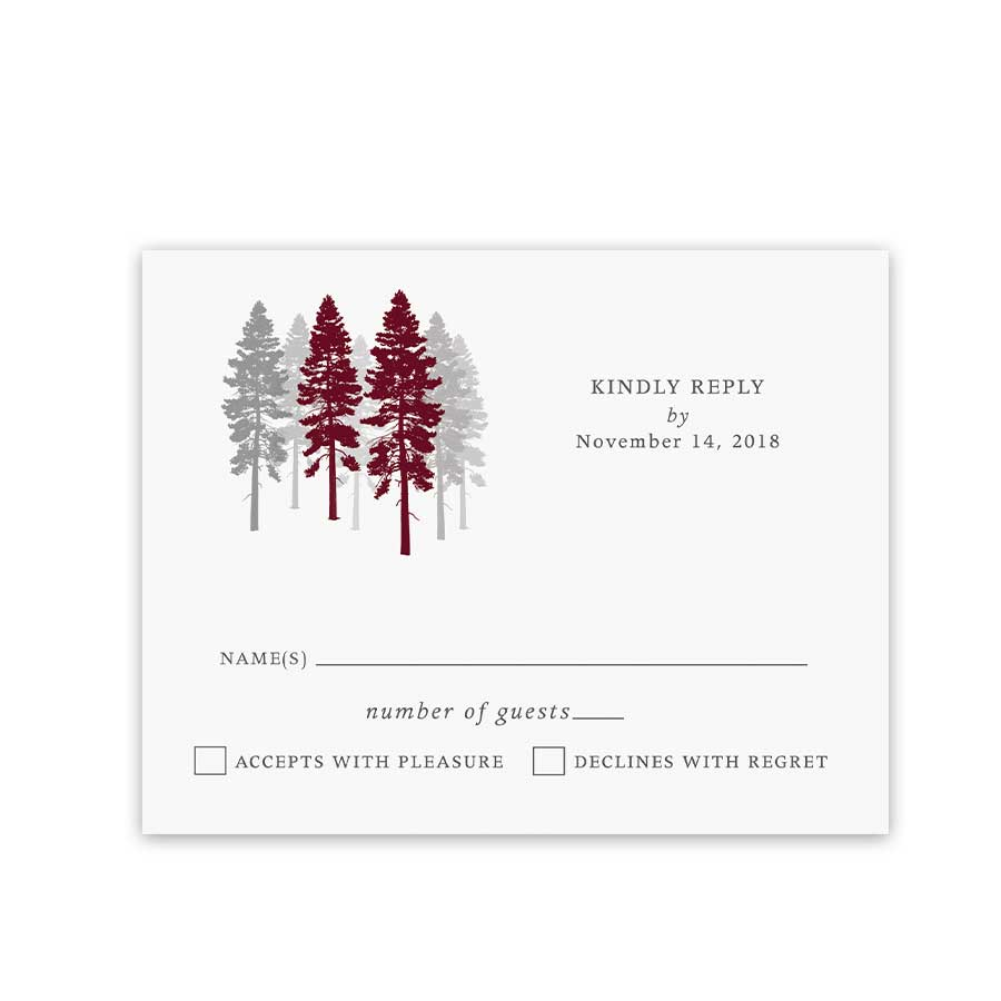 Fall Forest Wedding Reply Cards