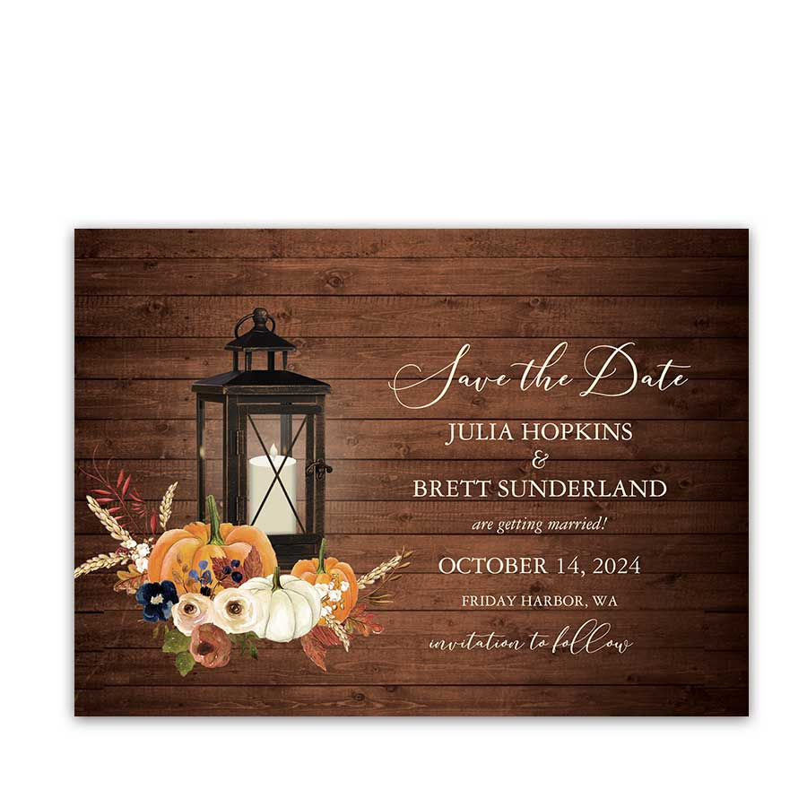 Rustic Fall Wedding Cards Save the Date
